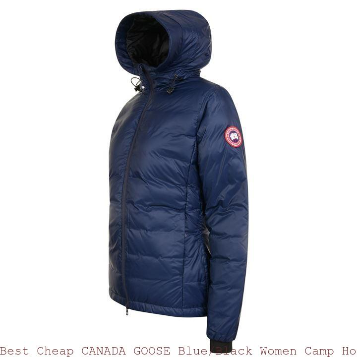 Best Cheap CANADA GOOSE BlueBlack Women Camp Hooded Jacket Newark, NJ 66866952