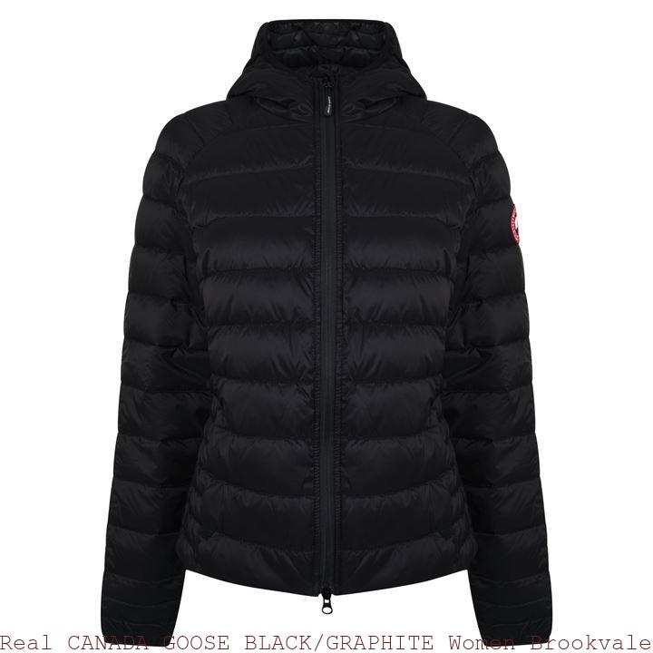 8b8ca3d5be67 Real CANADA GOOSE BLACK GRAPHITE Women Brookvale Padded Jacket Glendale