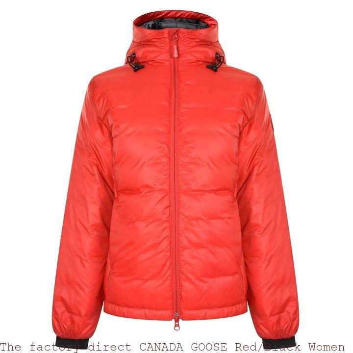 The factory direct CANADA GOOSE RedBlack Women Camp Hooded Jacket Sacramento, CA 66866962